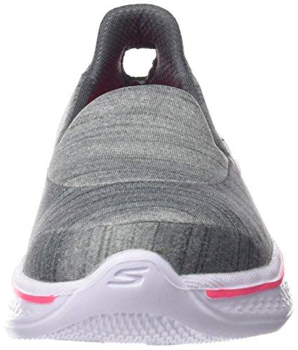 Skechers Go Walk 4, Sneakers Basses Fille Gris (Gry)