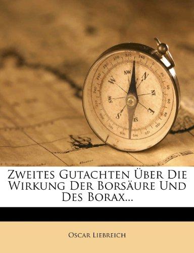 Preisvergleich Produktbild Gutachten Uber Die Wirkung Der Borsaure Und Des Borax.