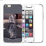 crisant 2 X Hülle Für iPhone 7 / iPhone 8 Weich TPU Silikon Anti-Scratch Schutzhülle Handyhülle Backcover Für Apple iPhone 7 / iPhone 8 (4.7 Zoll) (Katze Tiger wechseln und Transparente Fälle)