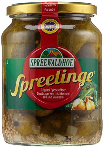 Spreewaldhof Spreelinge Gewürzgurken mit frischem Dill und Zwiebeln, 670 g