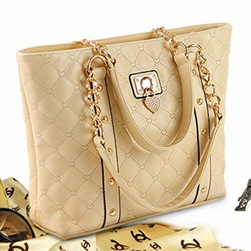 Weibliche Handtasche Große Öltücher Umhängetasche Frauen Tasche Bucket Type Messenger Bag , Beige