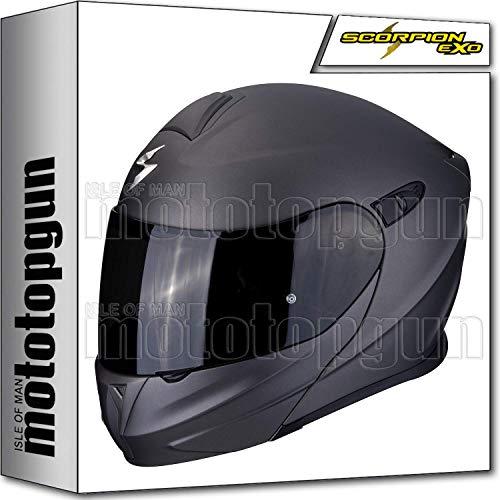 MOTOTOPGUN Scorpion 92-100-67 Motorradhelm, MODULAR EXO-920 SOLID MATT ANTHRAACITE XS Matt-weiß 92