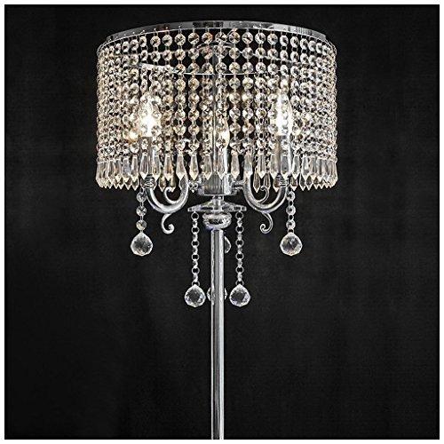 MILUCE Europäische Luxus Moderne kreative LED Wohnzimmer einfaches Schlafzimmer K9 Kristall Nachttischlampe