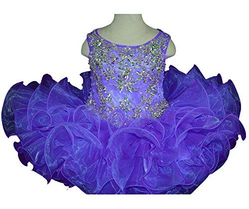 HuaiLian Baby Mädchen (0-24 Monate) Plissee Kleid Gr. XS , Lilac