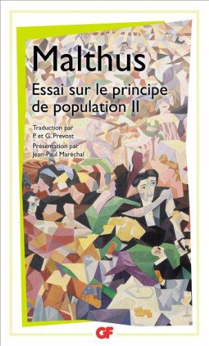 Essai sur le principe de population : Tome 2