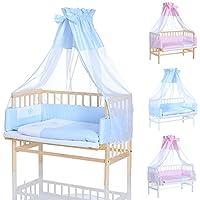 Lit Cododo Bebe - enfant lit d´supplémentaire 90x40 cm naturelle ou blanc avec set de literie set rose ou blue- de qualité supérieure