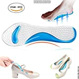 pedimendtm Silikon Gel Arch Support Einlegesohlen (Ohrstecker–2) | lindert Schmerzen High Arch/Plantarfasziitis/Flat Füße | selbstklebend rutschfest flach Fuß Korrektur Massage Schuh Pad | Unisex | Foot Care (blau)