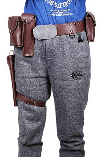 Skywalker Custom Kostüm Luke - Cosplay Kostüm Herren Gürtel Holster PU Leder Zubehör für Erwachsene Halloween Verrücktes Kleid Replik Merchandise