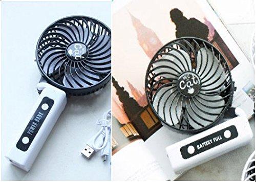 Preisvergleich Produktbild Nordvpn Tragbarer Ventilator,  Tragbarer Wiederaufladbarer Luftkühler Ventilator Manueller Mini USB Elektrischer Schreibtisch Tischventilator