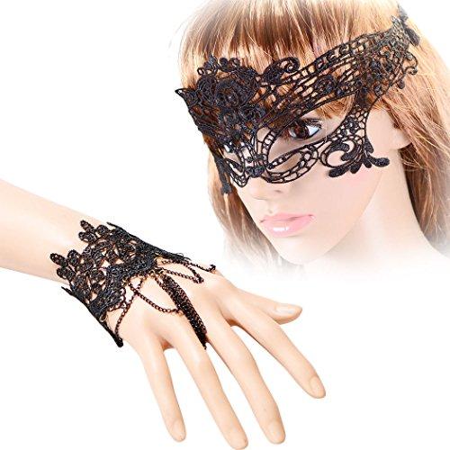 ske, Fascigirl Party Maske mit 2 Handketten KostüM Maske für Frauen (Massen-tanz-kostüme)