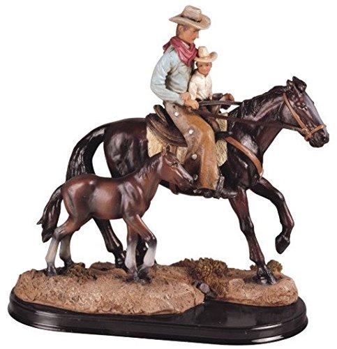 Vater und Sohn Cowboy Western Rodeo Dekoration Figur