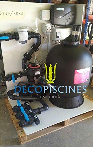Filtration piscine à sel prémonté sur support hors-sol Hayward filtre 500 - pompe 3/4 - Bloc filtrant
