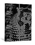 JP London bwcnv00485,1cm Dick Schwergewicht Schwarz & White Gallery Wrap Leinwand Wand Kunst, Anime Graffiti Girl schwarz und grau Cult, 2'x 1,5'