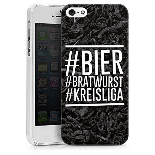 Apple iPhone 6s Hülle Case Handyhülle Bier Bratwurst Kreisliga Fußball Hard Case weiß