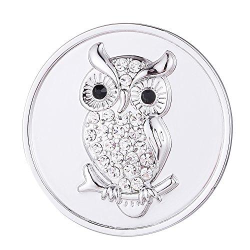 Morella Damen Coin silber Eule mit Strasssteinen 33 mm