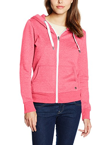 Only Onlfinley Ls Zip Hood Noos, Giacca Donna Rosa (Calypso Coral Detail:W. MELANGE)