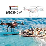 Cewaal SH5W Wifi FPV Drone with HD Camera and Live Video RC Quadcopter with Altitude Hold - Easy to Fly Drone for Beginners