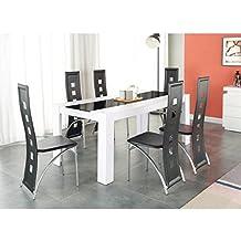 Gnrique Damia Ensemble Table A Manger 180x90 Cm 6 Chaises En Simili