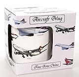 Becher Tasse Flugzeuge im Geschenkkarton 300 ml Fine Bone China Porzellan Happy Mug Pilot aircraft
