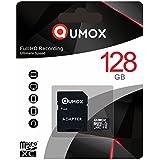 QUMOX 128 GB Micro SD Tarjeta de memoria de la clase 10 UHS-I de 128 GB alta velocidad Velocidad de escritura de 30 MB / S, velocidad de hasta 80 MB / S
