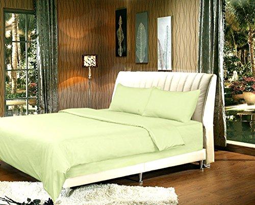 Tache 2-3Stück Bettbezug Eingesetzter Salbei Grün, Mikrofaser, grün, Queen (Queen Mint Cover Duvet)