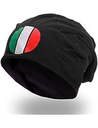 style3 Fan Slouch Beanie mit Nationalfarben verschiedener Länder Mütze aus weichem Jersey Unisex EM WM Olympia Veranstaltungen