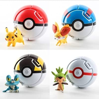 Pokemon Pokeball Cosplay Pop-up Elf Go Fighting Poke BALL Toy 3# Black,Yellow,White- Ball by D-Plus Shop de China