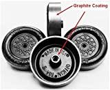 Pinewood Derby Wheels - PRO Lathed, Graphite Coated