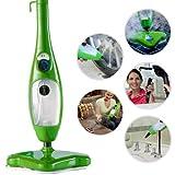 H2O X5- Mopa escoba a vapor eléctrica, máquina para limpiar e higienizar suelos, 5en 1