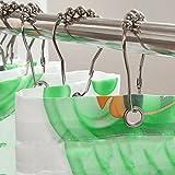 12 Stück Duschvorhangringe Duschvorhanghaken Gardinenringe Deallink Edelstahl Duschringe Aufhängeringe mit Gleitsystem für Bad oder Wohnzimmer