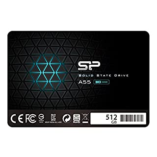 """Silicon Power SSD 512Go 3D NAND A55 SLC Cache Performance Boost 2.5 pouces SATA III 7mm (0.28"""") Interne SSD (B07KR1GFY5) 