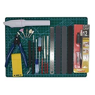Gundam Modeler Builder's Tools Craft Set Kit 16 PCS For Professional Bendai Hobby Model Assemble Building