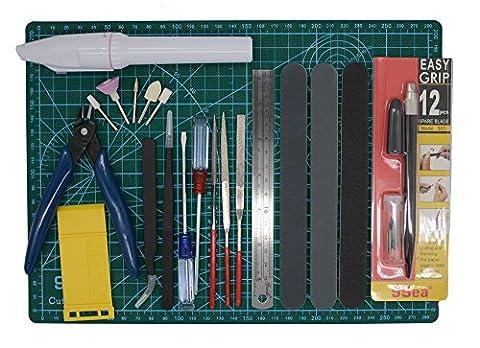 Gundam Modeller Builder Ensemble de outils Craft pour kit 16pcs pour Professional Bendai Hobby Modèle de construction de montage