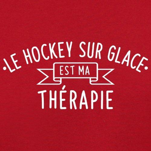 Le hockey sur glace est ma thérapie - Femme T-Shirt - 14 couleur Rouge