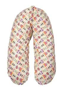 """Flexofill 2008-1-540 - Cuscino per allattamento """"gufi"""", XL, 190 x 40 cm, colore: Beige"""