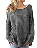 shermie Ladies O Neck Long Sleeve Knitted Plain Jumper Women Sweater Pullover with Thumb Hole On Sleeve …