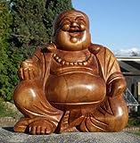 Super schöner 30 cm BUDDHA Happy HOLZ BUDDA FENG SHUI Bali Buda BH30