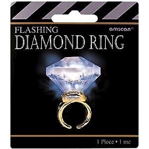 Light Up Diamond Ring Party Accessory: Amazon co uk: Toys