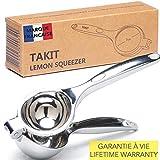 TAKIT Presse-citron manuel - Large Citron 7cm - Robuste Et Ergonomique - Anticorrosion - Pour...