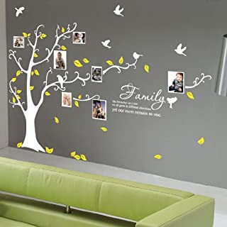 X Large Family Tree Birds Quote Wall Art / Wall Stickers / Wall Decals Bedroom Living room Wall Stickers-Grey