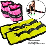 C.P. Sports 4er Set Gewichtsmanschetten, 2X 500g und 2X 1000g Laufgewichte für Fuß- und...