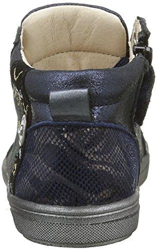 Catimini Marmotte, Chaussures Premiers Pas Bébé Fille Bleu (12 Vte Bleu/Or Dpf/Gluck)