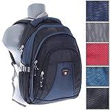 City Rucksack Schule Arbeit & Freizeit Bag Schulrucksack Sportrucksack Backpack Laptoprucksack Laptopfach 15 Zoll in 5 Farben (blau)