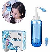 HALOViE Botella de lavado nasal Yoga Nasal 500ml Botella Nariz Limpiador Botella Rinitis alérgica Tratamiento Para Adultos y Niños bebe - Botella para limpieza de nariz