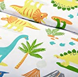 Bloomsbury Mill - Dinosaur World - Kids Bedding Set - Junior/Toddler/Cot Bed Duvet Cover & Pillowcase