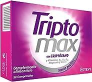 TRIPTOMAX - Complemento Alimenticio para Regular el Estado Anímico, Compuesto de Triptófano + Vitaminas del Gr