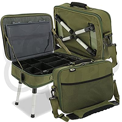 NGT Carp Fishing Deluxe Anglers Box Case Tackle & Bait Storage System with Legs from DNA