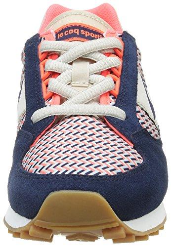 Le Coq Sportif Eclat W Geo, Baskets Basses Femme Bleu (Dress Blue/Fiery Cor)
