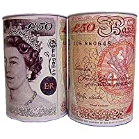 3 x Large Money Tin £50 - H 22cm x W 18cm.