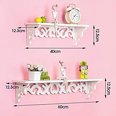 Beyondfahion Unique Design Home Wall Shelves/Rack/Storage/Display 2Pcs Cut Out